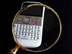 Calculatrice et loupe