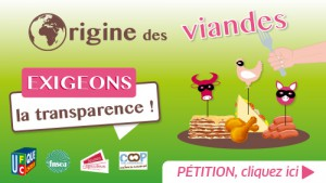 pétition étiquetage viande